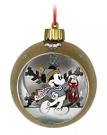 Disney Glass Ball Ornament - Mickey Mouse Light-Up - Silver & Gold