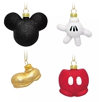 Disney Ornament Set - Mickey Mouse Icon Body Parts - Set of 4