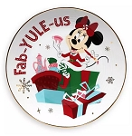Disney Dessert Plate - Holiday Minnie Mouse - Fab-yule-us