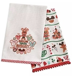 Disney Dish Towel Set - Mickey and Minnie Gingerbread Holiday