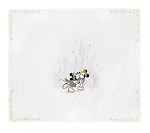 Disney Throw Blanket - Holiday Mickey & Minnie with Castle - Gold & Silver