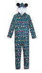 Disney Pajamas Bodysuit for Men - Holiday Mickey Mouse - Blue