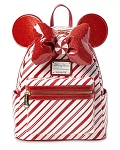 Disney Loungefly Backpack - Holiday Minnie Mouse - Peppermint