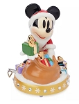 Disney Musical Figurine - Santa Mickey Mouse with Gifts
