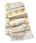 Disney Knit Scarf for Adults - Disney Parks - Silver and Gold