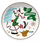 Disney Dessert Plate - Holiday Goofy - All Wrapped Up