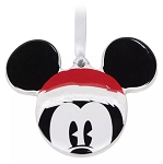 Disney Disc Ornament - Santa Mickey Mouse Icon - Ceramic