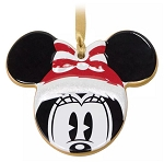 Disney Disc Ornament - Santa Minnie Mouse Icon - Ceramic