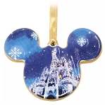 Disney Disc Ornament - Mickey Cinderella Castle - Ceramic