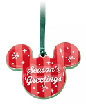 Disney Disc Ornament - Mickey Icon - Season's Greeting