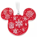 Disney Disc Ornament - Mickey Icon Snowflake - Ceramic