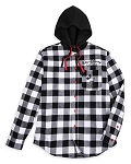 Disney Hoodie for Adults - Mickey Mouse Classic - Black & White Plaid