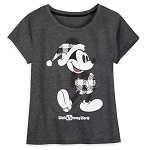 Disney T-Shirt for Women - Holiday Mickey Mouse Classic - Plaid