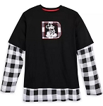 Disney Shirt for Adults - Mickey Mouse Plaid Layered - Walt Disney World