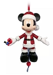 Disney Figurine Ornament - Santa Mickey Mouse Articulated