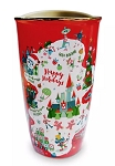 Disney Starbucks Travel Tumbler - Disney Parks - Happy Holidays