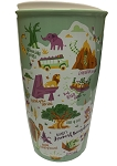 Disney Starbucks Travel Tumbler - Animal Kingdom - Park Map