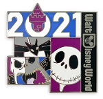 Disney 2021 Pin - Jack Skellington - Walt Disney World
