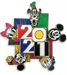 Disney 2021 Pin - Mickey & Friends - Walt Disney World - Spinner