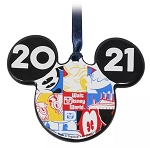 Disney Disc Ornament - 2021 Dated - Mickey Icon - Walt Disney World