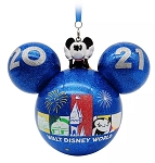 Disney Mickey Ears Icon Ornament - 2021 Dated - Mickey Mouse