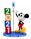 Disney Figurine Ornament - 2021 Mickey Mouse - Walt Disney World