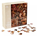 Disney Jigsaw Puzzle - Cats and Dogs - Two-Sided