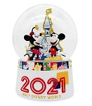 Disney Snow Globe - 2021 Mickey and Minnie Mouse - Resin