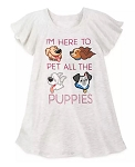 Disney Shirt for Girls - I'm Here to Pet All the Puppies