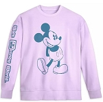 Disney Pullover Sweatshirt for Men - Mickey & Minnie - Pastel