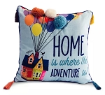 Disney Throw Pillow - Pixar UP - Home is Where the Adventure is