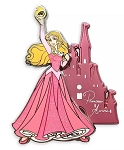 Disney Sleeping Beauty Pin - Aurora with Castle