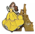 Disney Beauty and the Beast Pin - Belle with Castle