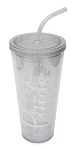 Disney Travel Tumbler with Straw - Fantasyland Castle - Bride