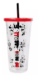 Disney Travel Tumbler with Straw - Minnie Mouse - Red & Black