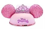 Disney Hat - Ears Hat - Disney Princess with Veil - Sequined