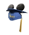 Disney Hat - Mickey Ears Graduation Cap - Class Of 2021 - Mortarboard