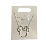Disney Necklace - Minnie Mouse Bow Icon - Silver
