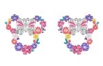 Disney Rebecca Hook Earrings - Minnie Mouse Floral Icon