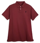 Disney Polo Shirt for Adults - Mickey Mouse - Burgundy