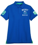 Disney Polo Shirt for Adults - Walt Disney World Collegiate - Blue