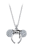 Disney Crislu Necklace - Mickey Mouse Graduation 2021