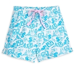 Disney Lounge Shorts for Women - Walt Disney World - Blue & White