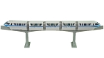 Disney Playset - Walt Disney World Monorail - Blue