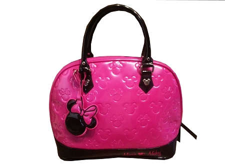 Disney Loungefly Tote Bag - Mickey and Minnie Mouse Embossed - Pink