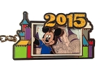 Disney Keychain - 2015 Mickey Mouse with Retro Cinderella Castle