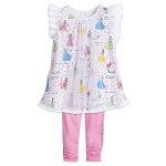 Disney Girls Tulle Top and Leggings Set - Princess - Two-Piece