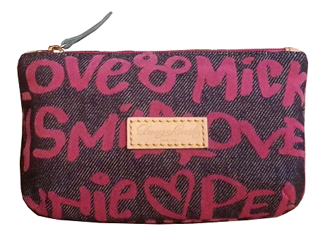 Disney Dooney and Bourke Bag - Peace, Love, Mickey Denim - Cosmetic