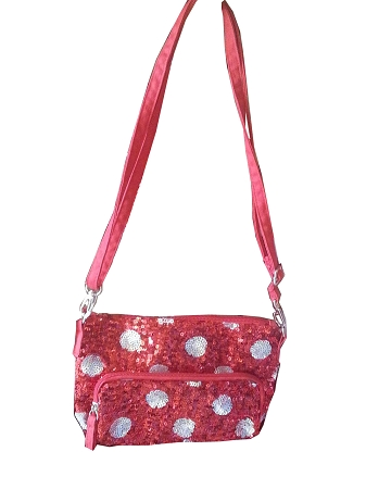 Disney Purse Bag - Minnie Mouse Polka Dots - Sequined Red