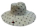 Disney Sun Hat for Women - Minnie Mouse Polka Dots - Black and White